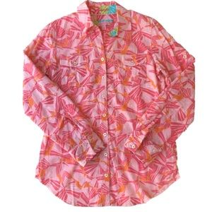 Lilly Pulitzer Resort Fit Button Down Top